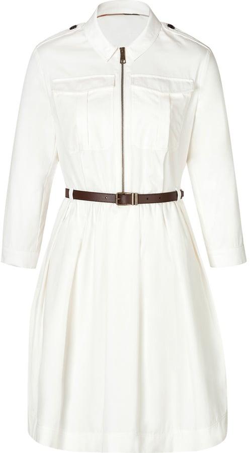 Burberry White Shirtdress