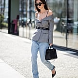 Replace Your Off-the-Shoulder Top With an Off-the-Shoulder Blazer