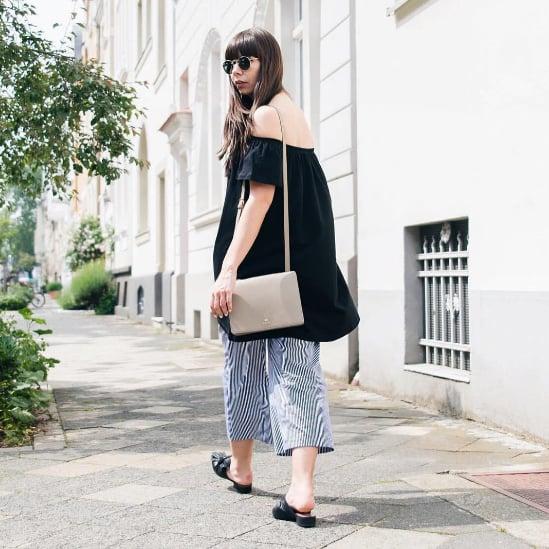 Trend: Kleider über Hosen tragen