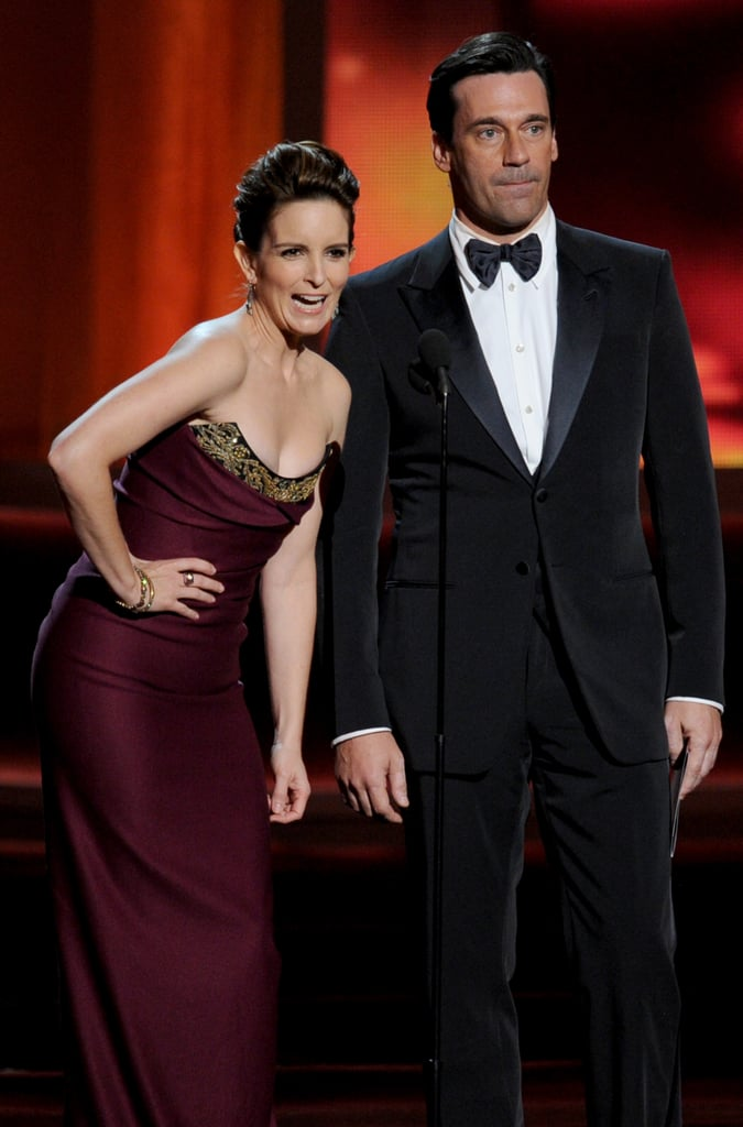Tina Fey and Jon Hamm presented together in 2012.
