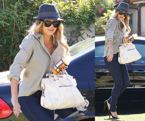 Photos of Lauren Conrad Wearing a Fedora in LA