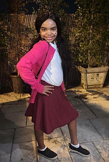 Kyla Pratt's Daughter Dressed as Penny Proud For Halloween