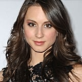 Troian Bellisario arrived at the NBC afterparty.