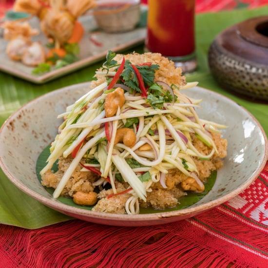 Crispy Minced Fish, Sour Mango Salad, Coriander, Cashew Nuts