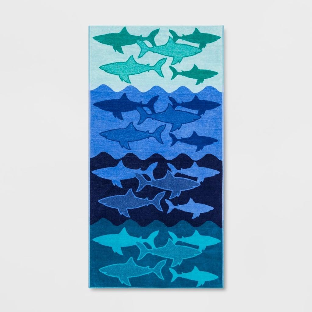XL Sharks Beach Towel Ombre Blue
