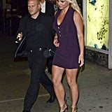 Britney Spears went out to dinner at ABC Kitchen in NYC after the Fox Upfronts party.