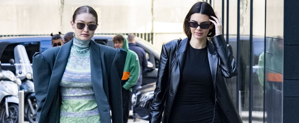 Kendall Jenner's Black Reformation Minidress in Milan