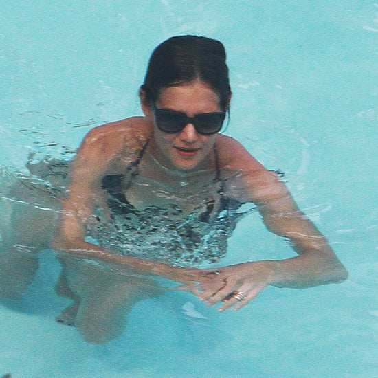 Katie Holmes and Suri Cruise Swimming in Bikinis