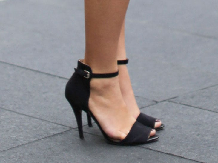 Ankle-straps, like these understatedly sexy Zara heels, were making the rounds all over Fashion Week. Source: Greg Kessler