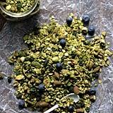 Matcha Granola With Blueberries