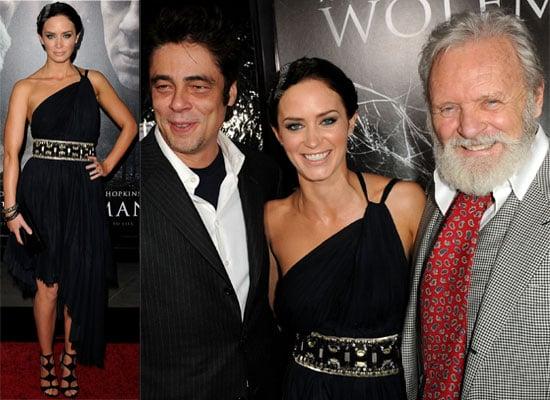 Photos of Emily Blunt, Benicio Del Toro and John Krasinski at Wolfman Premiere