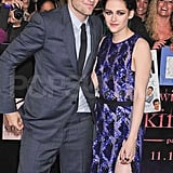 Robert Pattinson made a funny face posing with Kristen Stewart.