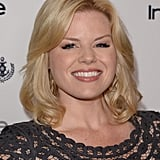 Megan Hilty styled her blond bob in curls and loaded up on the mascara.