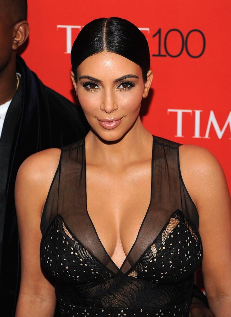 Kim Kardashian at the 2015 Time 100 Gala | POPSUGAR Beauty