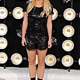 2011: Britney arrives for the show poised to accept the Michael Jackson Video Vanguard Award like a boss.