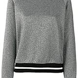 Maison Kitsuné Metallic Ribbed Sweatshirt