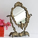 Vintage Victorian Brass Oval Mirror, approx $238