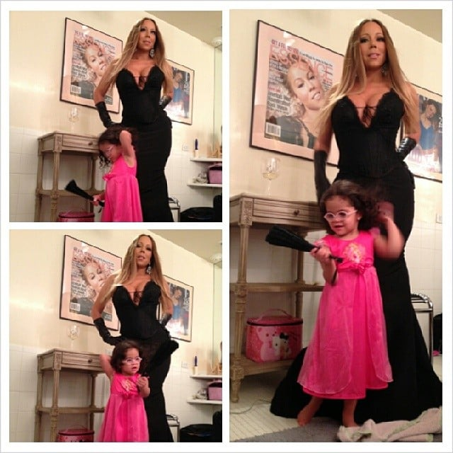 Mariah Carey had fun playing dress-up with her daughter, Monroe Cannon. Source: Instagram user mariahcarey