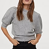 H&M Puff-sleeved Knit Sweater