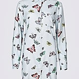 M&S Collection Butterfly Print Longline Long Sleeve Shirt