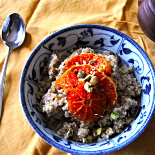 Quinoatmeal With Roasted Blood Oranges