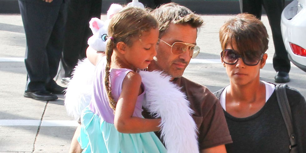 Pregnant Halle Berry and Olivier Martinez With Nahla in LA