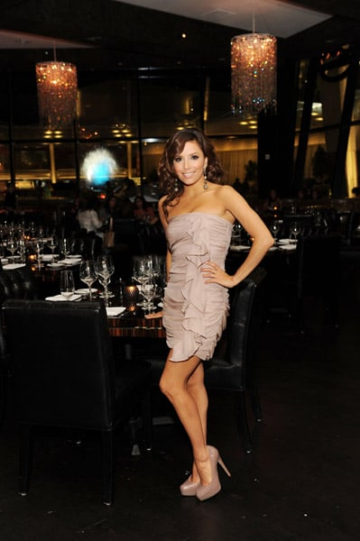 Eva Longoria helped her hubby Tony Parker celebrate his birthday in Vegas in head-to-toe nude.