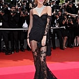 Eva Herzigová swept the red carpet in a see-through Versace number back in 2008.