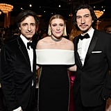 Noah Baumbach, Greta Gerwig, and Adam Driver at the 2020 Golden Globes