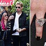 Chad Kroeger proposed to Avril Lavigne in August with a 14-carat diamond.