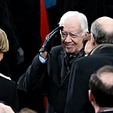 Jimmy Carter attended the inauguration.