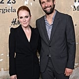 Julianne Moore posed with Bart Freundlich for photos at the launch of Maison Martin Margiela for H&M in NYC.