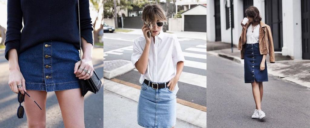 Fresh Ways to Style Your Denim Skirt