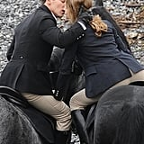 Photos of Natalia Vodianova Filming Belle du Seigneur With Jonathan Rhys Meyers