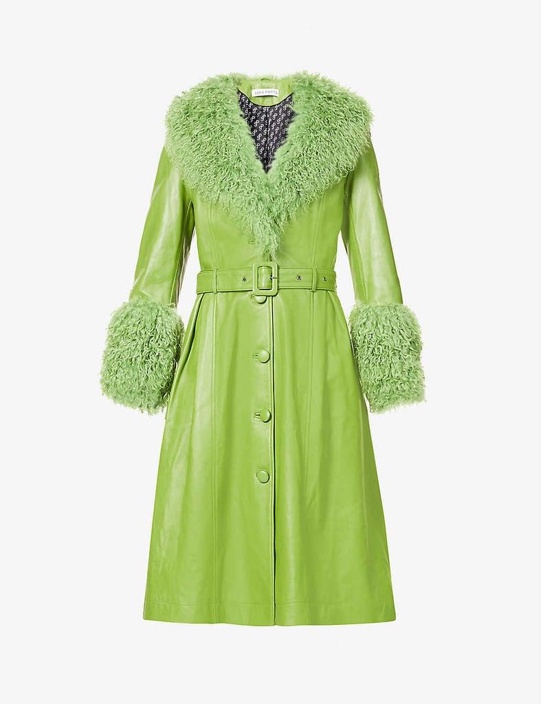 Saks Potts Shearling Leather Coat