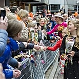 The Dutch royal family at King's Day.