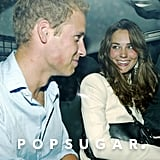 Kate Middleton smiled at Prince William after a night out at London's Boujis club in September 2006.