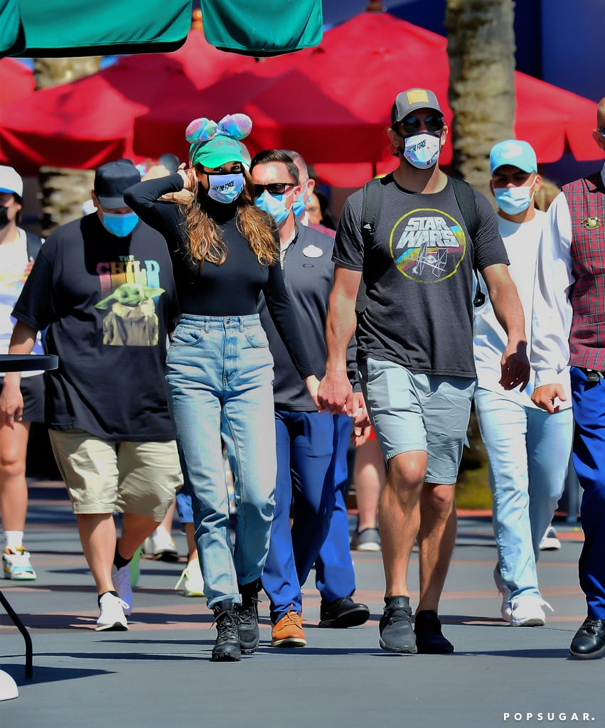 "Shailene Woodley and Aaron Rodgers appear to be getting more comfortable showing off their romance. After enjoying a date night in Hot Springs, AR, last month, the couple made a trip to Disney World in Florida over the weekend. Shailene and Aaron looked smitten as they held hands and cuddled up to each other. Not to mention, they wore matching Star Wars-themed face masks that paired perfectly with Aaron's T-shirt.  The 29-year-old actress showed support for her 37-year-old fiancé when he guest hosted Jeopardy! on Monday night. In videos posted on her Instagram Stories, Shailene said she had a ""very important announcement to make."" While turning the camera on Aaron, she said: ""This guy right here is super sexy, super attractive, just shaved his neck this morning, has a little man bun growing, rocking my new shades. This guy is hosting Jeopardy! tonight!"" Aaron surprised us all when he announced that he was engaged during the NFL Honors ceremony on Feb. 6. At the time, the Green Bay Packers quarterback did not reveal the name of his fiancée, but People later revealed that it was Shailene. The actress then confirmed the engagement herself during an appearance on The Tonight Show Starring Jimmy Fallon, saying: ""We are engaged. But for us, it's not new news, you know, so it's kind of funny. Everybody right now is freaking out over it and we're like, 'Yeah, we've been engaged for a while.'"" While she didn't reveal when they got engaged exactly, Shailene said they met during the pandemic. She also gushed about Aaron, calling him ""a wonderful, incredible human being."" See more of Shailene and Aaron's Disney World date ahead.       Related:                                                                                                           No, Jodie Foster Did Not Set Up Shailene Woodley and Aaron Rodgers"