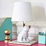 مصباح طاولة على شكل بولدوغ فرنسي من PBteen (بسعر 149$  دولار أمريكي؛ 548 درهم إماراتيّ/ريال سعوديّ)