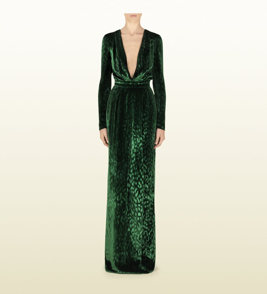 We've seen both model Natasha Poly and velvet Gucci deep V-neck gown ($2,249, originally $4,500), and since this sexy investment just happens to be on sale, we thought we'd suggest it as something you may want to splurge on this holiday season.