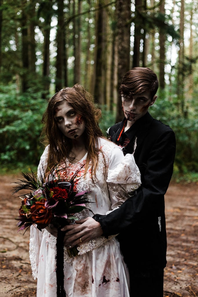 This Zombie-Themed Halloween Wedding Is Frighteningly Cool