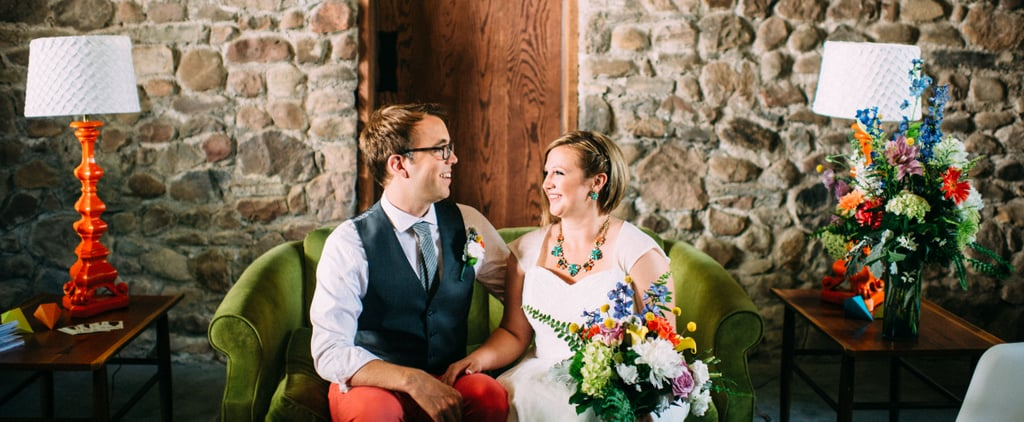 This Colorful and Quirky Geometric Wedding Is the Exact Opposite of Boring