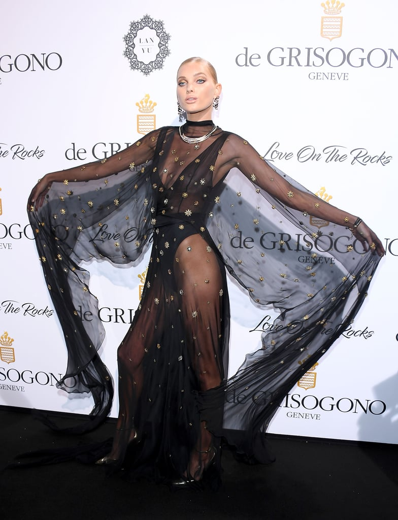 The Dramatic Sleeves on Elsa Hosk's Alberta Ferretti Dress