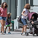 Alicia Keys with son Egpyt and stepson Kassem.
