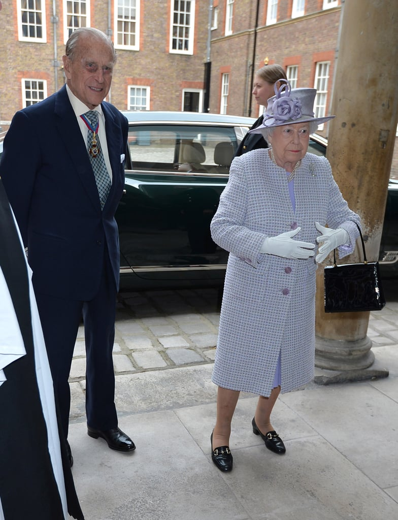 Prince Philip was all smiles on Thursday when he stepped out in London after announcing his retirement. The Duke of Edinburgh had his wife, Queen Elizabeth II, by his side as he visited the Order of Merit Service at St. James's Palace. He appeared to be in good spirits as he mingled with guests. Rumours about his and the queen's health recently went into overdrive when Buckingham Palace called for an emergency meeting for all staff early Thursday morning. However, an announcement was made shortly after 10 a.m. UK time that the 95-year-old royal would be stepping down from royal duties as of this Fall. Until then, he will continue his previously scheduled engagements.