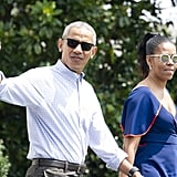 When he and Michelle Obama actually wore normal-people clothes