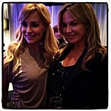 Charlotte Dawson met Taylor Armstrong from The Real Housewives of Beverly Hills. Source: Instagram user mscharlotted