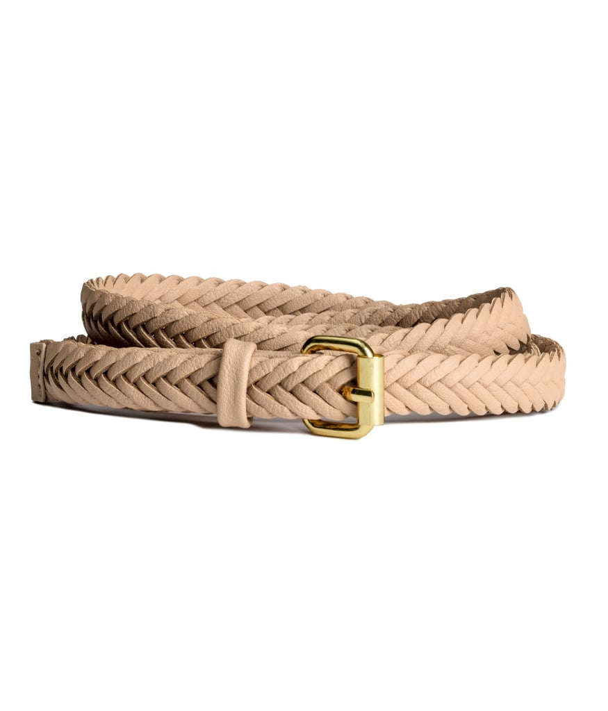 Cinch together your outfit with a beige H&M skinny belt ($6).