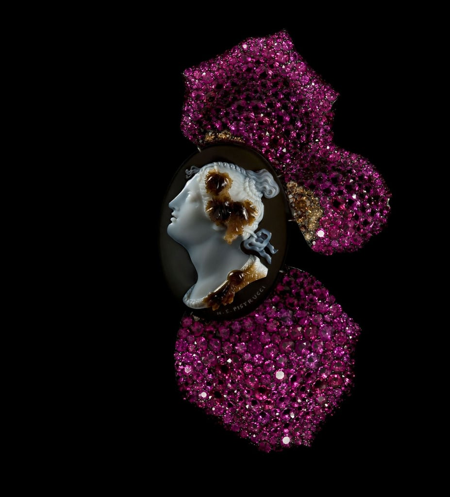 JAR Cameo and Rose Petal Brooch, 2011
