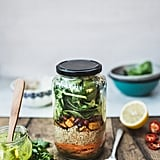 Quinoa Mason Jar Salad With Sweet Potatoes